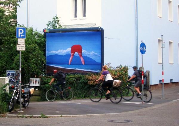 Freiburg Fotocollage auf Werbeträger